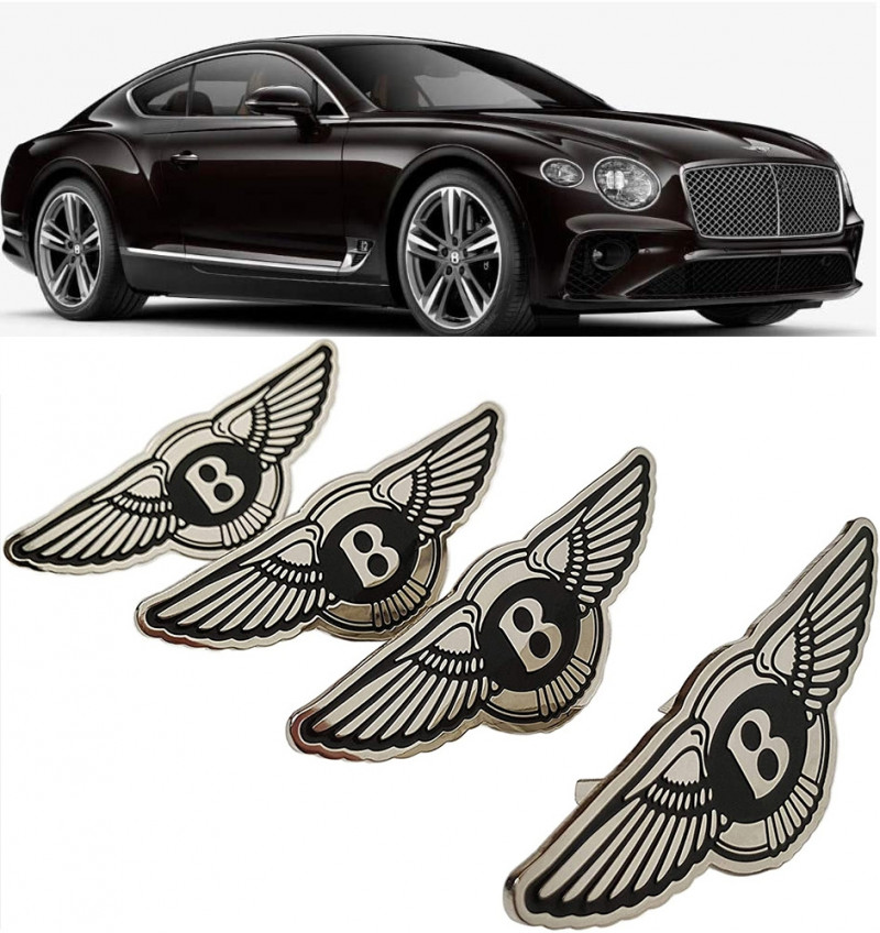Bentley Seat Badges Logo Metal Emblem Set for Bentley Bentayga Continental GT Flying Spur Mulsanne and Other Models Set of 4 pcs