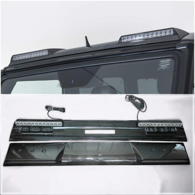 Carbon Front Roof Lip Spoiler with LED for Mercedes Benz G-Class W461 W463 G55 G65 G63