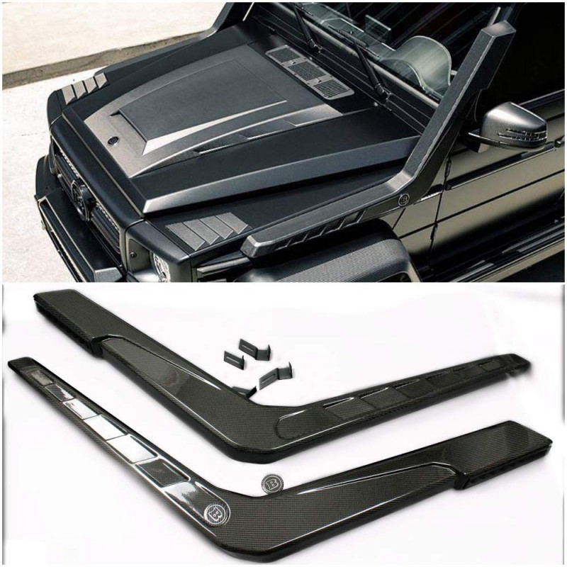 Carbon Fiber Side Snorkels for Mercedes-Benz G-class G500 G55 G63 G65 W463 Brabus Style