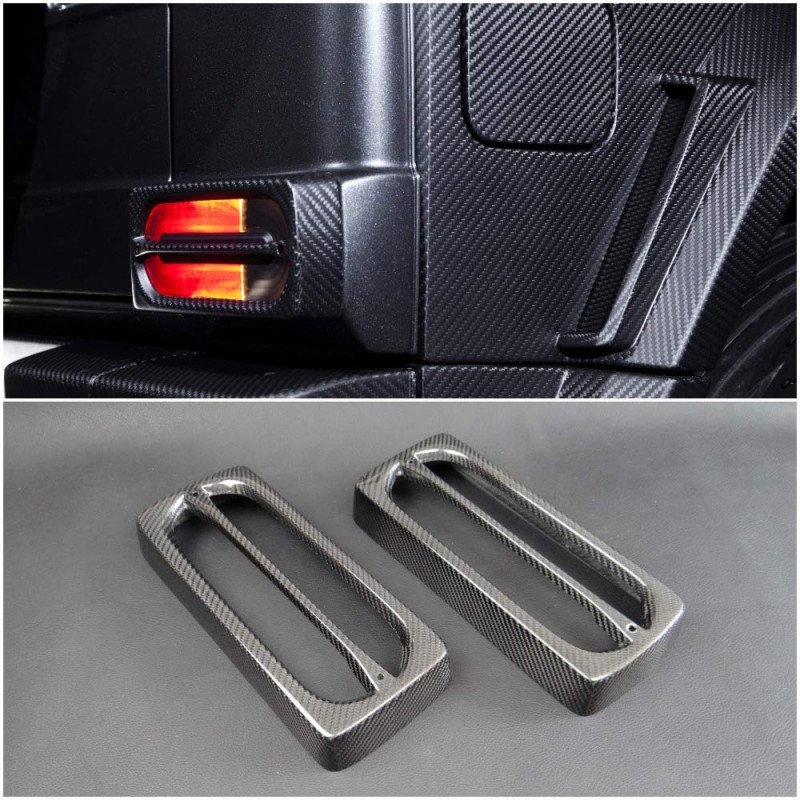 Carbon Rear Tail Light Covers for Mercedes Benz G-Class W463 G55 G65 G63 Mansoty Style