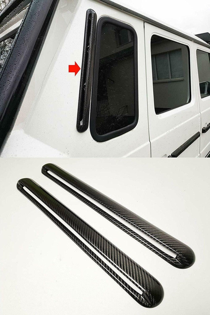 Carbon Fiber Rear Pillars Window Panels for Mercedes-Benz G-class G500 G55 G63 G65 W463